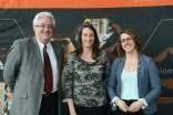 Catriona Czyrnyj with Drs. Lague and Mavriplis.