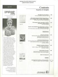 Language Arts July 2013 Volume 90 Number 6 Table of Contents