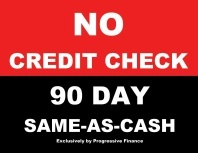 Charming McGuire Furniture Offers NO CREDIT CHECK FINANCING Through Progressive  Financial With A 90 Days Same As Cash Choice. With Our No Credit Check  Financing ...
