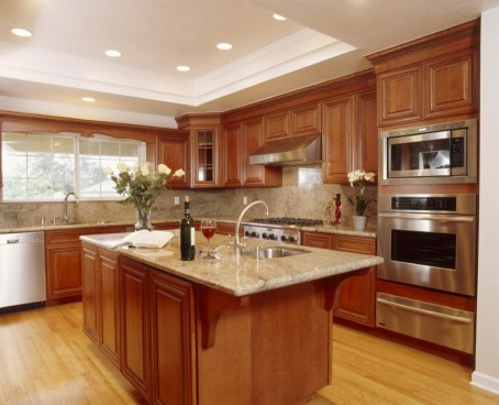 Beautiful house clean kitchen