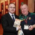 Robert McClenaghan (right) with Sinn Féin's Barry McIlduff