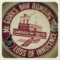 Campaign badge and film title: Loss of Innocence