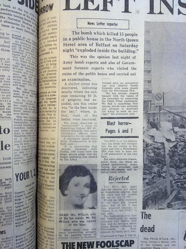 Newsletter disinformation, 6th December 1971
