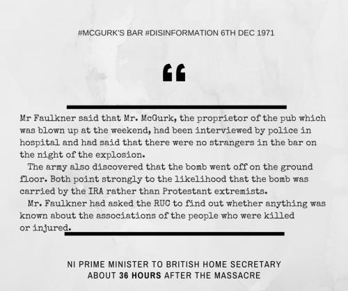 Prime Minister Faulkner's Black Propaganda