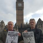 McGurk's Bar campaigners Robert McClenaghan and Gerard Keenan lobbied politicians in London.