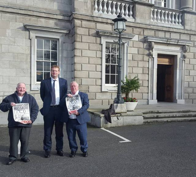 McGurk's Bar family members meet Jim O'Callaghan TD, Justice and Equality Spokesperson