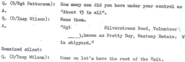 Robert James Campbell squaels on the younger members of his UVF gang