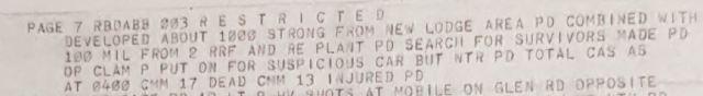 Suspect car McGurk's Bar Report