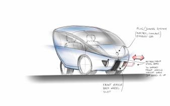 TG0009 - smooth design HER citycar concept sketch