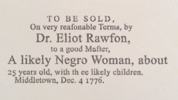 Slave Sale Advertisement of Woman
