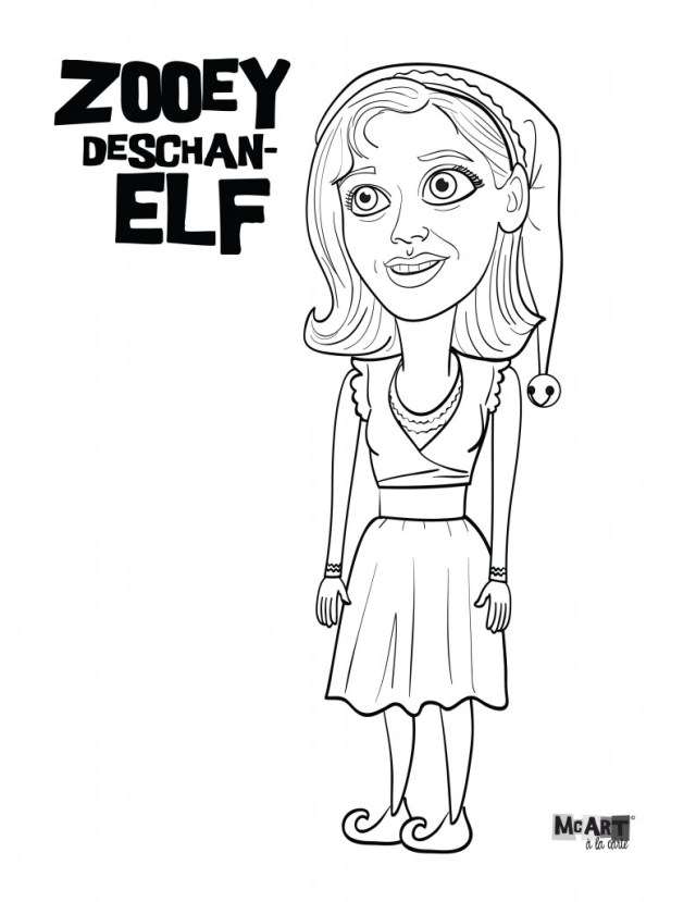 Buddy the Elf & Jovie Coloring Pages  McIllustrator
