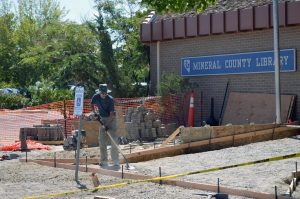 """The Mineral County Library is receiving a facelift to its front entrance thanks to a large bequest from Norma Joyce Scott. """"We got this bequest"""