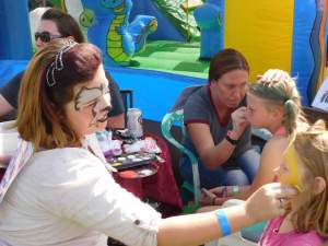 Sheri Samson Facepainting was just one of the many activities local children enjoyed on Saturday at the Fall Festival at Lion's Park. The Hawthorne Care and Share presented the fundraising event.