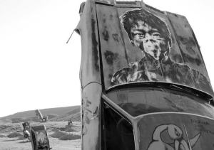"""Sheri Samson The """"World's Largest National Junk Car Forest"""" in the Goldfield hills in Esmeralda County features half-buried vehicles as a form of art."""