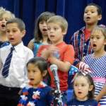 Hawthorne Elementary School students hold patriotic concert