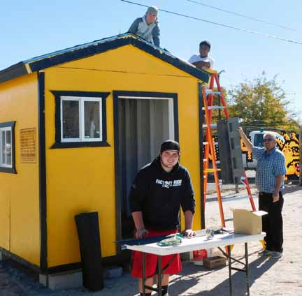Students Learn New Skills by Renovating Ticket Booth