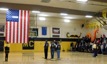 New American Flag Unveiled in Mineral County High Gym