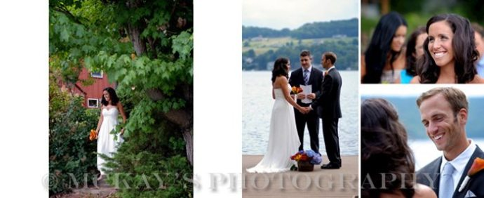 Small Keuka Lake Wedding Ceremony for the Schutt family