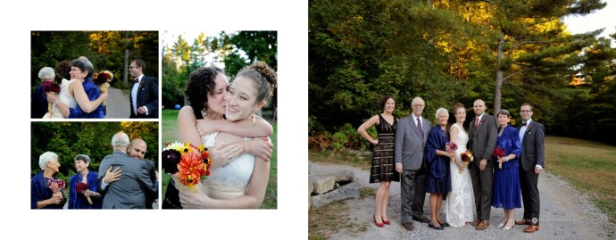 Fall Adirondack Wedding photos at Forest Lake Camp