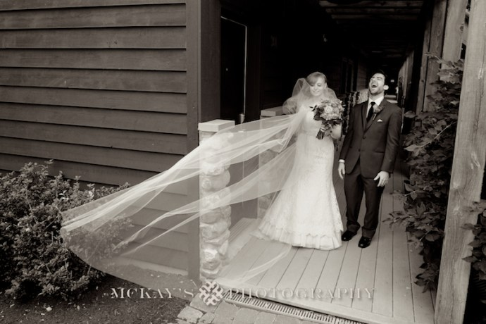 Bride and Groom First Look photos at Bristol Harbour Resort