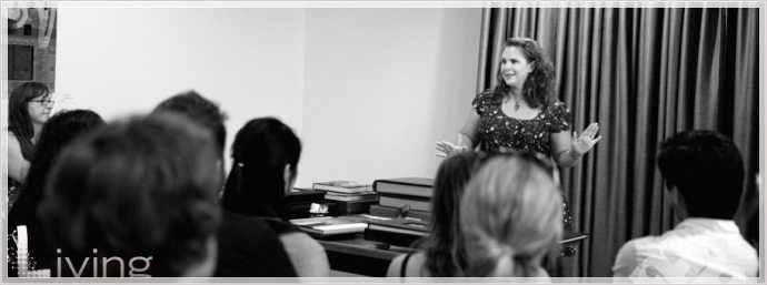 Heather McKay teaches a wedding album workshop to Boston Photographers