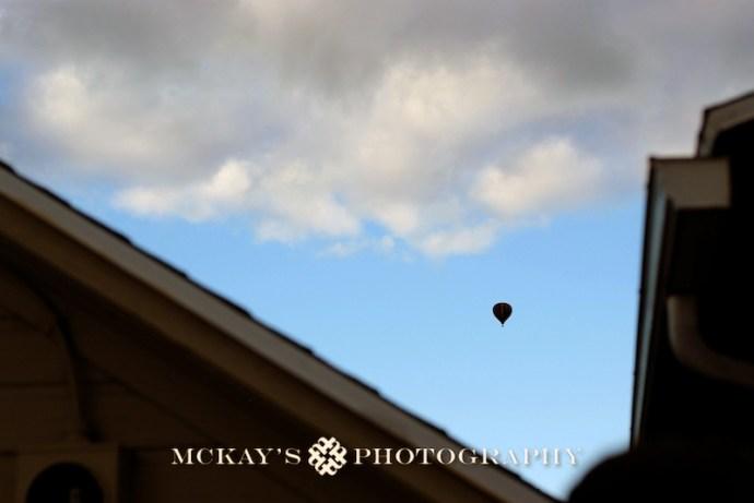hot air balloon at weddings in NY
