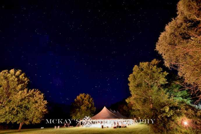 McCarthy Tents for backyard wedding in Bristol NY
