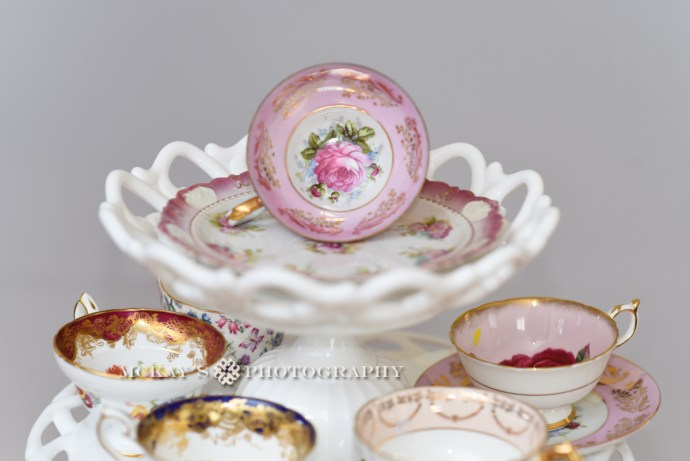antique and vintage tea cups and plates for rent near Rochester NY