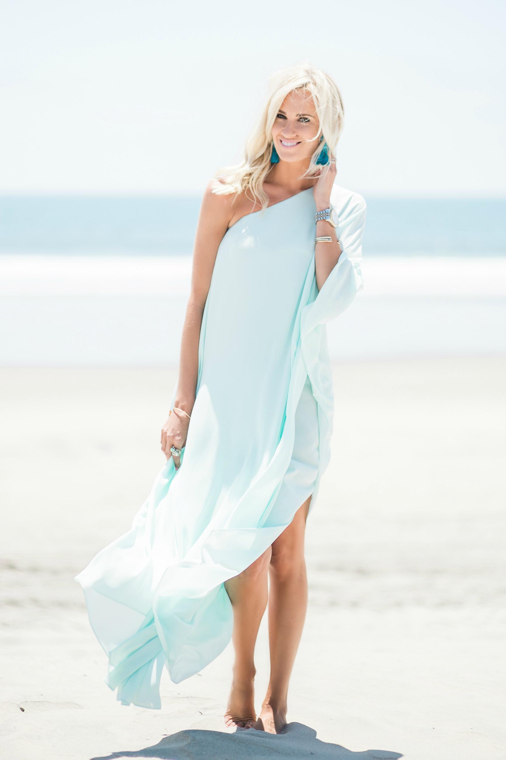 Light Blue Beach Maxi Dress McKenna Bleu