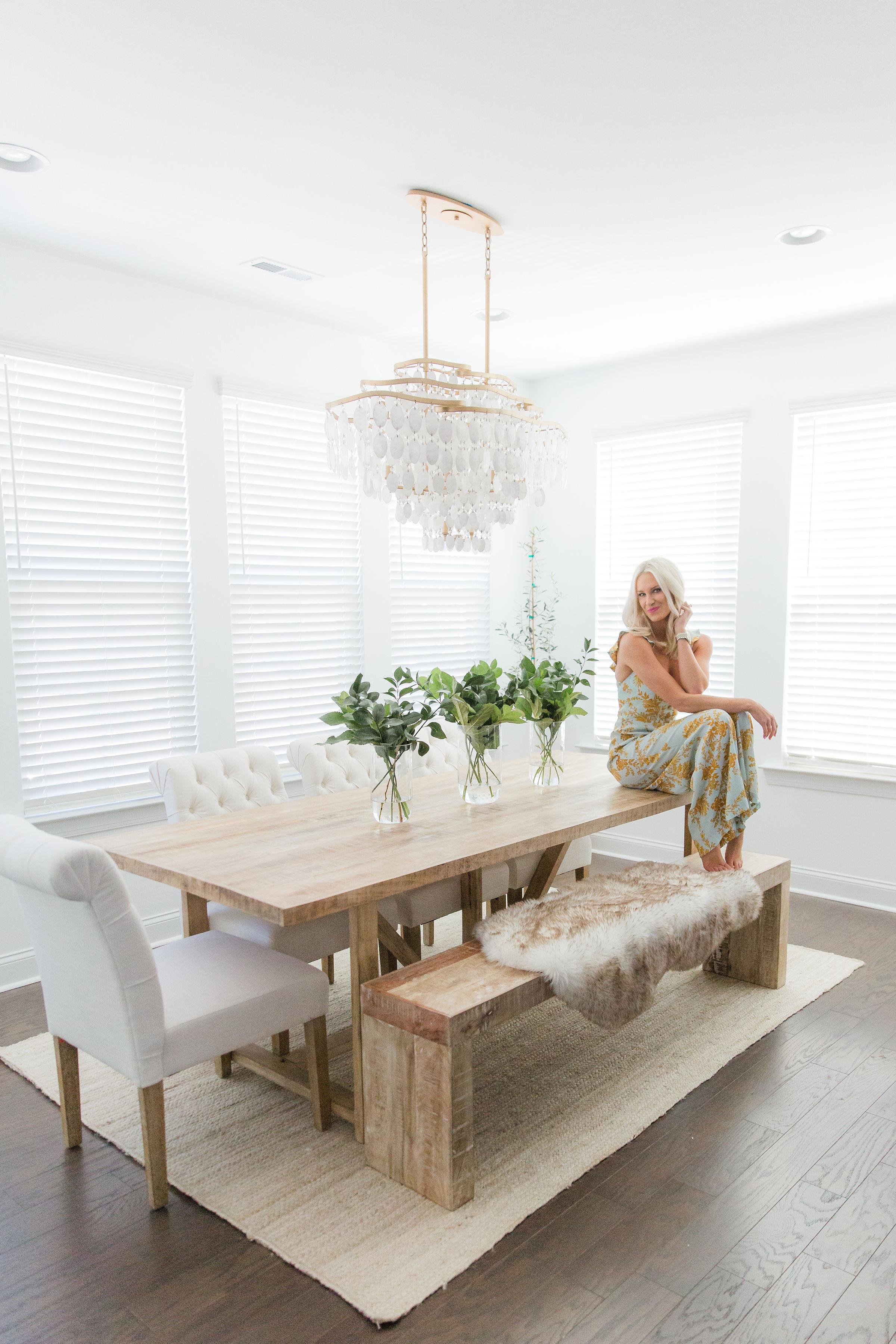 Modern Farmhouse Dining Room With Nadeau Mckenna Bleu
