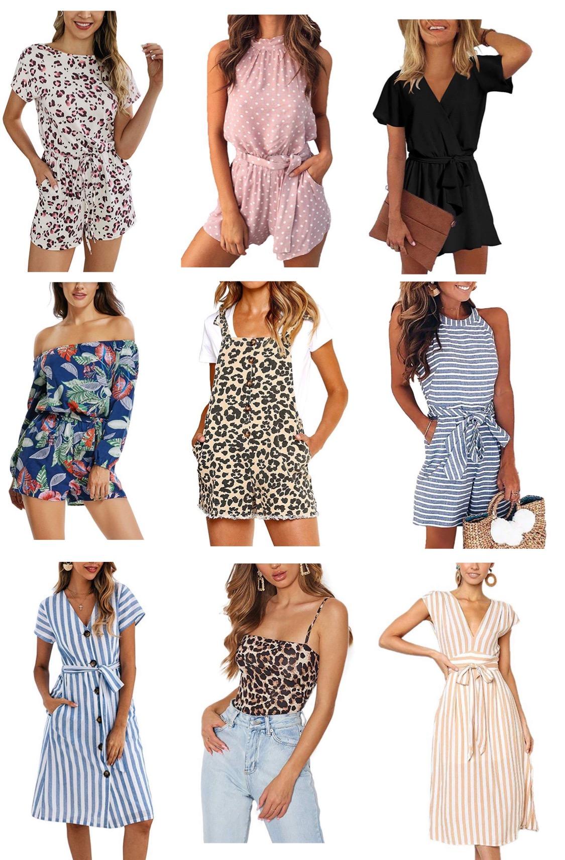 XL, Black Women Plus Size Romper Shorts Camisole Floral Print Fashion Casual Short Sleeve Jumpsuit Loose Fit Vintage