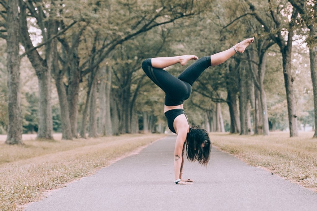 girl balancing yoga pose