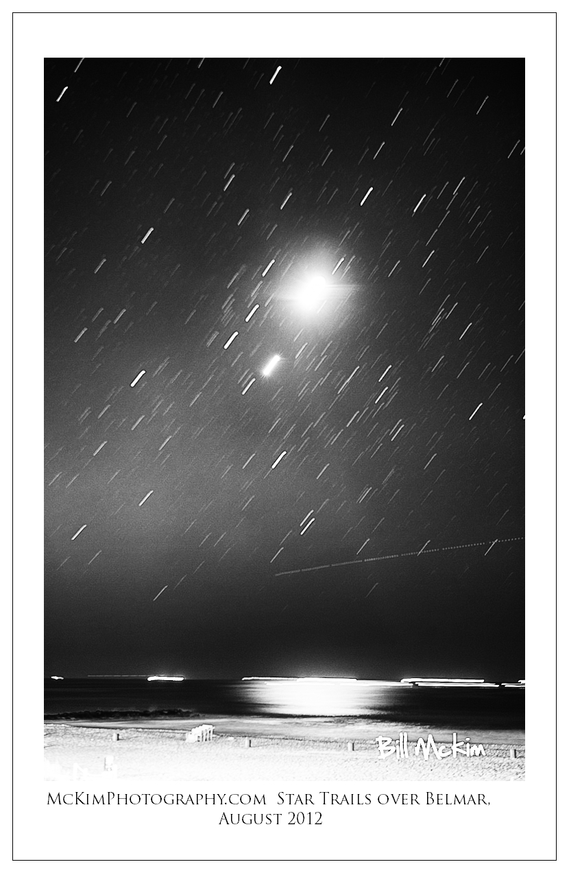 Belmar beach star trails