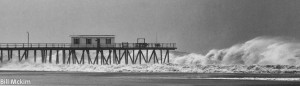 Hurricane Sandy photo Belmar Fishing Pier canvas print