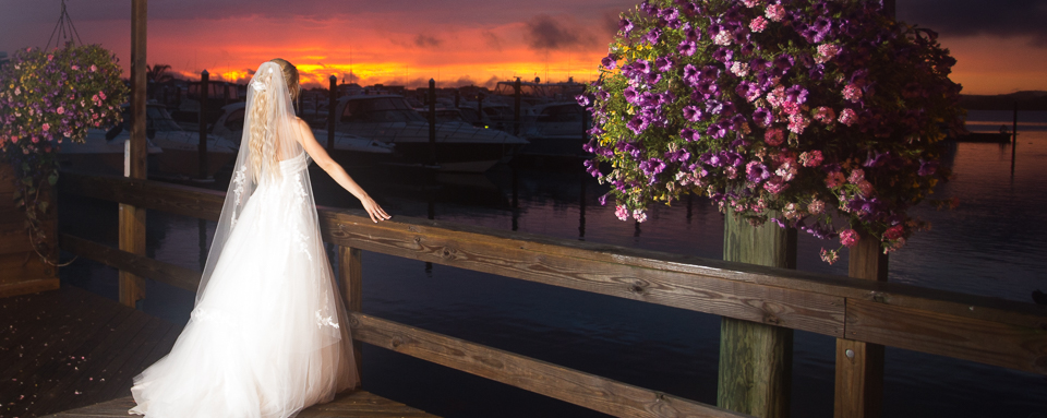 The Channel Club wedding photos breathtaking views at sunset