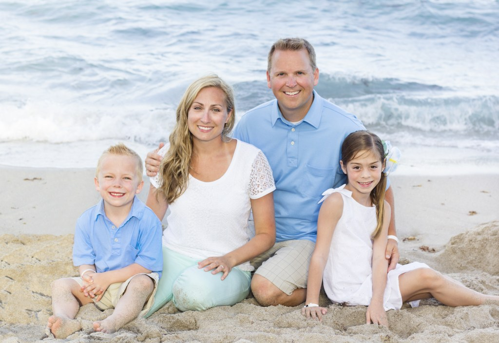 Beautiful young family Portrait monmouth county