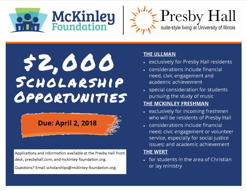 Presby Scholarships 2018
