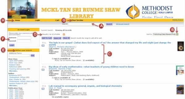 Library Catalogue (OPAC)