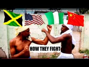 American VS Jamaicans VS Chinese VS African How They Fight @JnelComedy