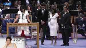 Aretha Franklin's grandchildren, niece, nephew speak at funeral service