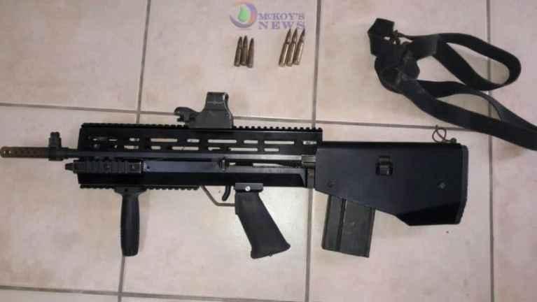 Unusual Assault Rifle Seized