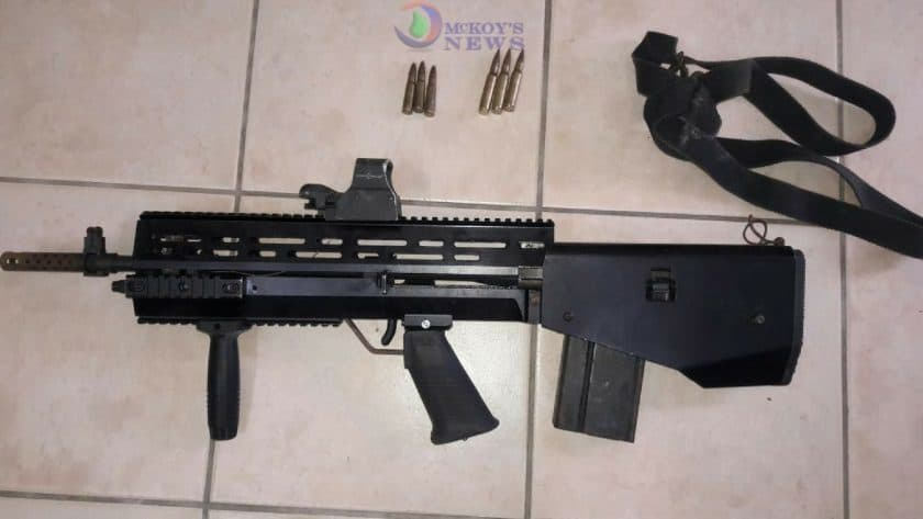 Unusual Assault Rifle Seized
