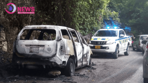 Taxi Operator Narrowly Missed Being Burnt Alive on Long Hill