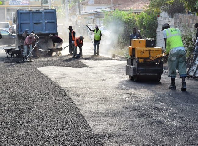 Richard Vernon Jnr Oversees Collymore Drive Road Repair 2017