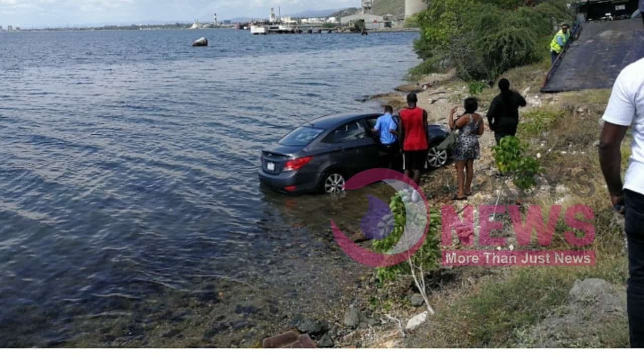 DRIVER NARROWLY MISSED BEING KILLED AFTER CAR PLUNGE INTO SEA