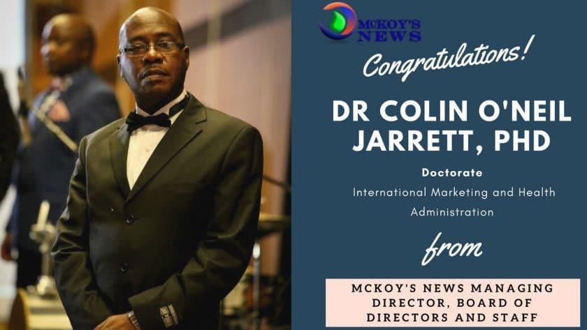 Dr Colin O Jarrett