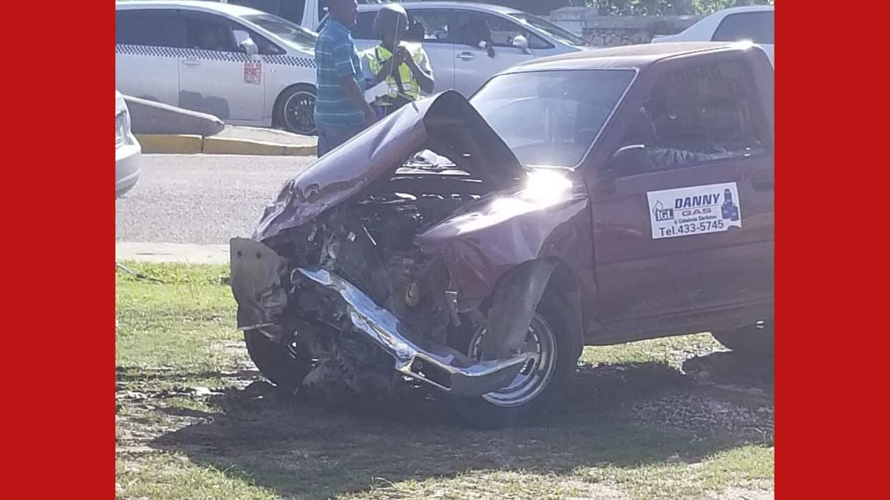 Photos: Two vehicle accident at Fairview, Montego Bay