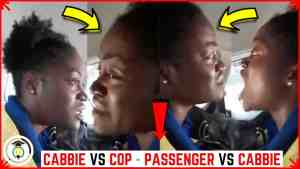Drama as Cop Chase Taxi Driver Amidst a Woman's Plea