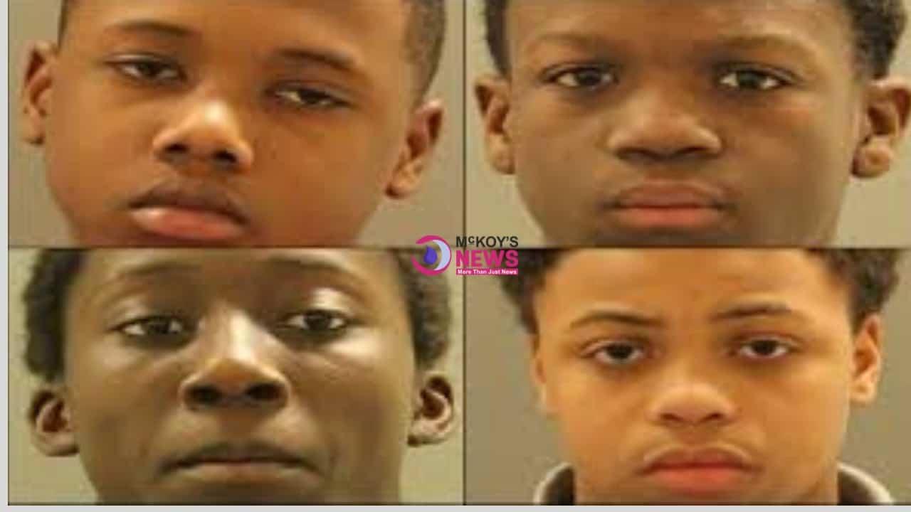 Four Boys Ranging in Age from 12 to 14 are Charged with Kidnapping and Raping a Girl