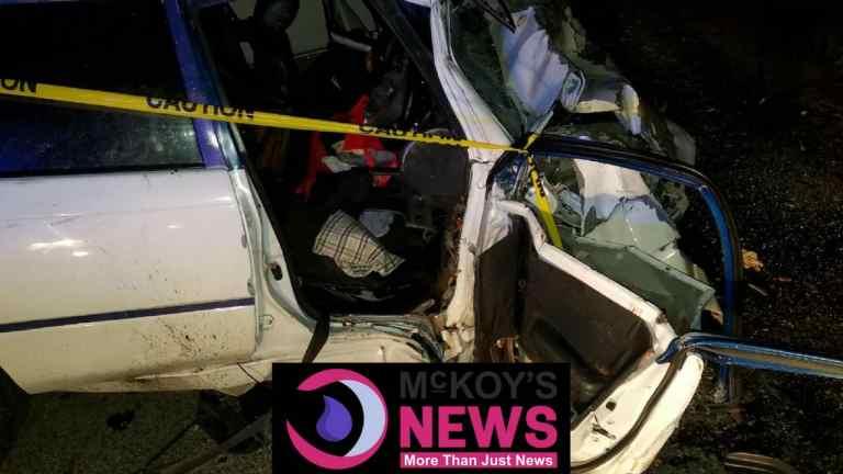 FEMALE PERISH IN MOTOR VEHICLE ACCIDENT IN SANDY BAY ,HANOVER